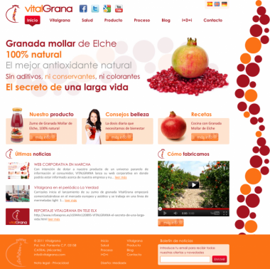 Nueva Web Corporativa Vitalgrana