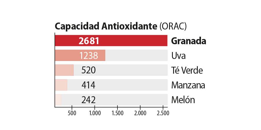 El zumo de granada Vitalgrana es un gran antioxidante natural