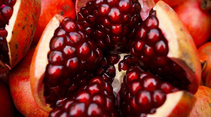 La granada es una fruta de temporada