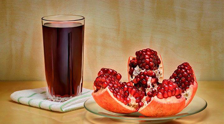 nutrientes de la granada en zumo